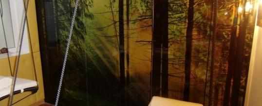 Decorazione in adesivo satinato con foto foresta